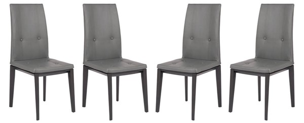 Design Edge Gunning 4  Grey Faux Leather Dining Chairs DE-22820218
