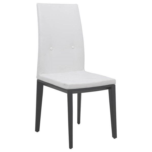 Design Edge Gunning  White Faux Leather Dining Chair DE-22370788