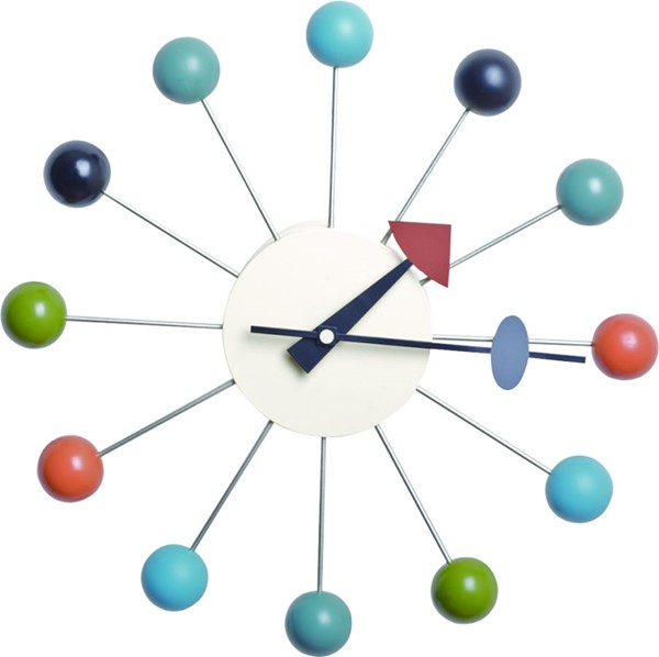 LeisureMod Concordia Round Colorful Balls Wall Clock LSM-VCL13M