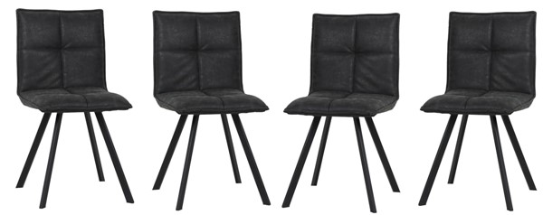 4 LeisureMod Wesley Leather Dining Chairs LSM-WC184-DR-CH-VAR