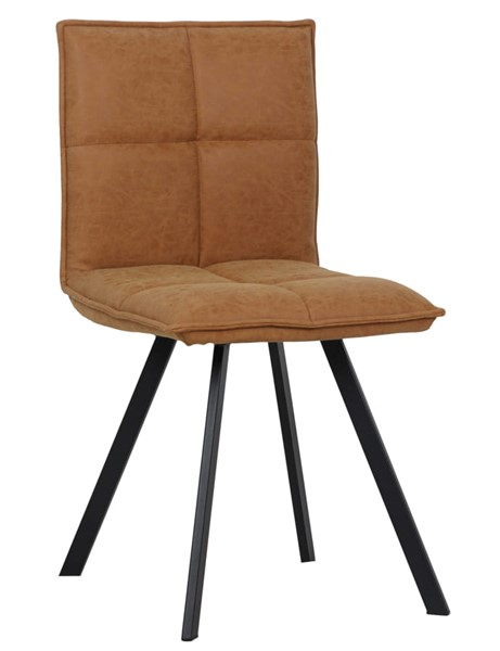 LeisureMod Wesley Light Brown Leather Dining Chair LSM-WC18BR