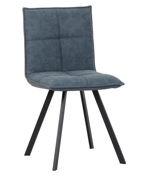 LeisureMod Wesley Peacock Blue Leather Dining Chair LSM-WC18BU
