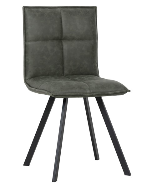 LeisureMod Wesley Olive Green Leather Dining Chair LSM-WC18G