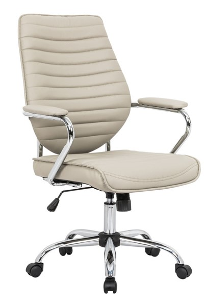 LeisureMod Winchester Home Tan Leather Office Chair LSM-WO19TL