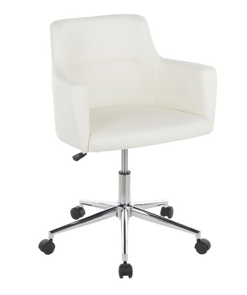 Lumisource Andrew White Office Chair LUMI-OC-ANDRW-W