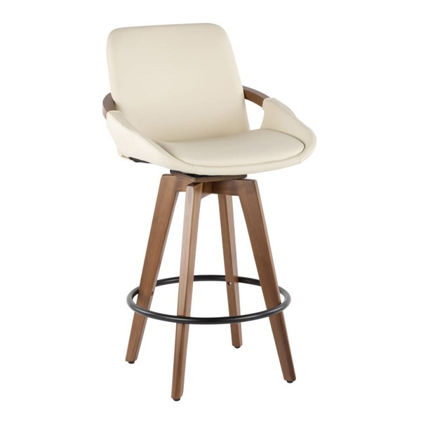 Lumisource Cosmo Cream Counter Stool LUMI-B26-COSMO-WL-CR