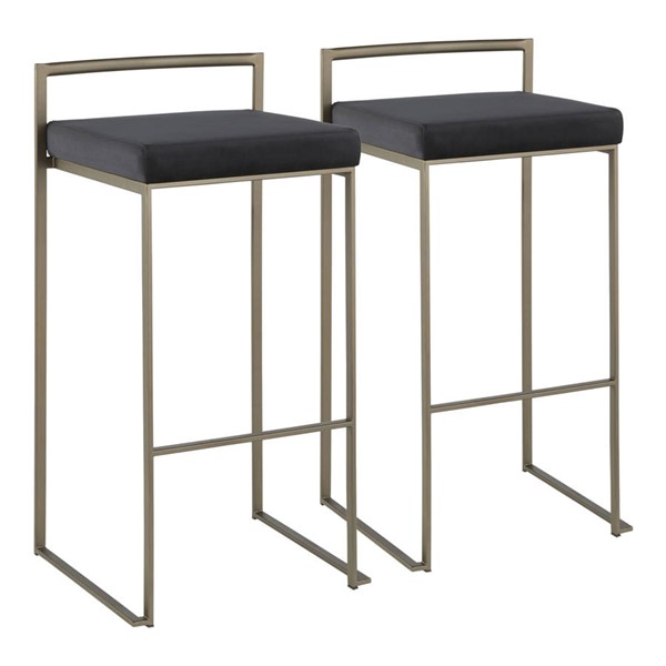Lumisource Fuji Antique Black Stacker Barstools LUMI-B30-FUJI-VAR