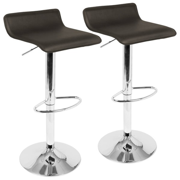 2 Lumisource Ale Brown Barstools LUMI-BS-ALE-BN2
