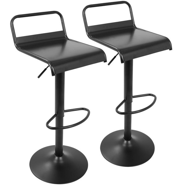2 Lumisource Emery Black Barstools LUMI-BS-EMRY-BK2