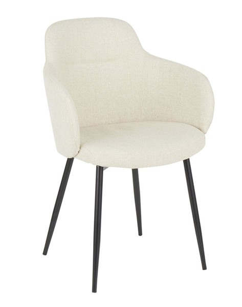 Lumisource Boyne Black Cream Fabric Chair LUMI-CH-BOYNE-BKCR