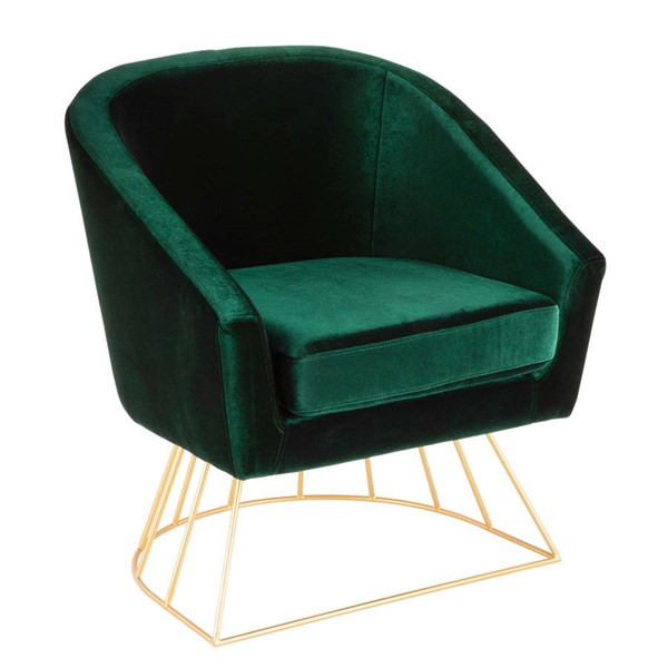 Lumisource Canary Gold Emerald Green Tub Chair LUMI-CH-CNRY-AU-GN