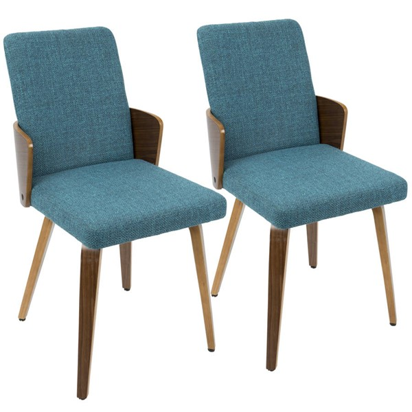 2 Lumisource Carmella Teal Dining Chairs LUMI-CH-CRML-WL-TL2