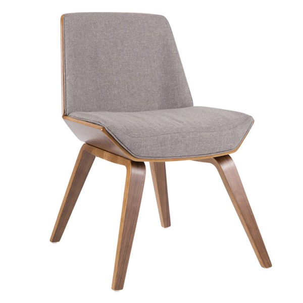 Lumisource Corazza Walnut Grey Chair LUMI-CH-CRZZ-WL-GY