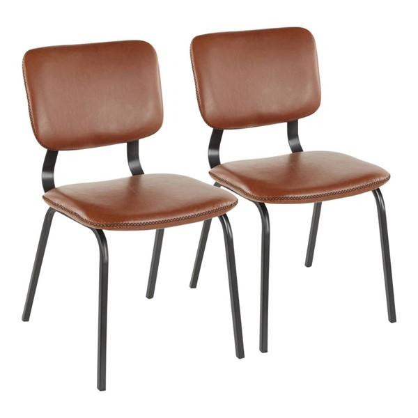 Lumisource Foundry Cognac Brown Chairs LUMI-CH-FNDY-BK-VAR