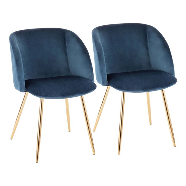 2 Lumisource Fran Blue Chairs LUMI-CH-FRAN-AU-BU2