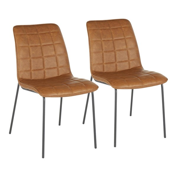 2 Lumisource Quad PU Leather Chairs LUMI-CH-INDYQUAD-BK-DR-CH-VAR
