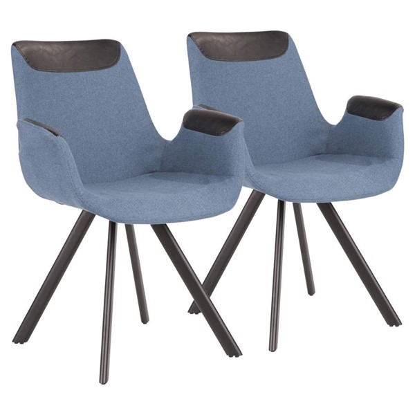 2 Lumisource Vintage Flair Blue Chairs LUMI-CH-INVF-BKBUBK2