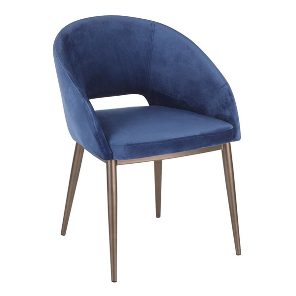 Lumisource Renee Copper Blue Velvet Fabric Chair LUMI-CH-RENEE-CUBU