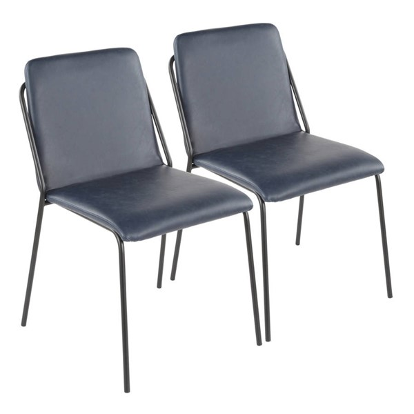 2 Lumisource Stefani Blue Chairs LUMI-CH-STFNI-BK-BU2