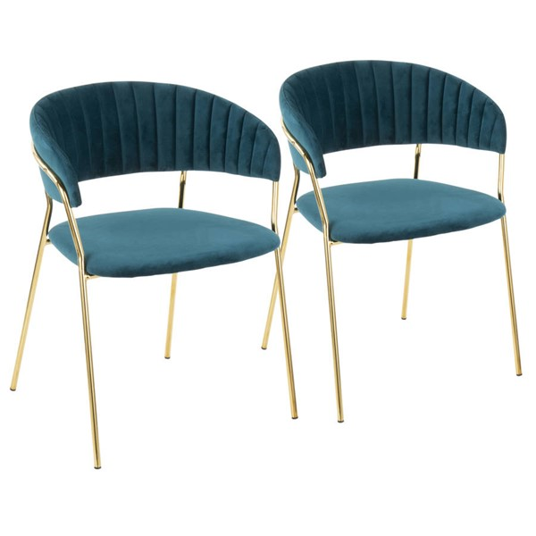 2 Lumisource Tania Teal Chairs LUMI-CH-TANIA-AU-TL2