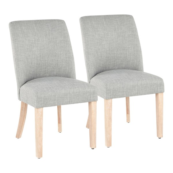 2 LumiSource Tori Green Grey Dining Chairs LUMI-CH-TORI-WWGN2