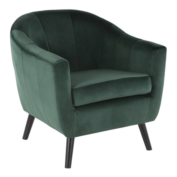 Lumisource Rockwell Green Accent Chair LUMI-CHR-RCKWLV-GN