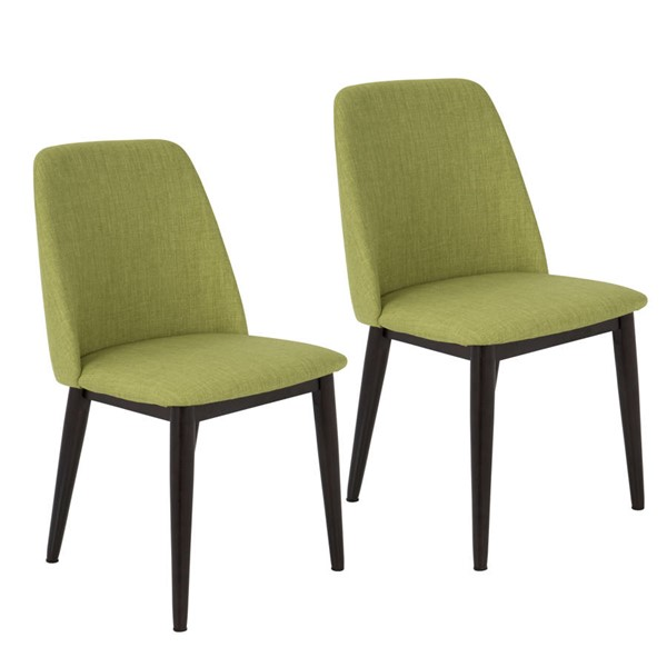 2 Lumisource Tintori Brown Green Dining Chairs LUMI-CHR-TNT-GN-BN2