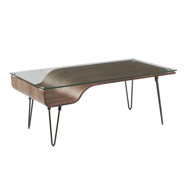 Lumisource Avery Walnut Coffee Table LUMI-CT-AVERY-WL