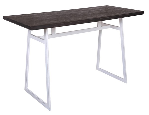 Lumisource Geo White Espresso Counter Table LUMI-CT-GEO-VW-E