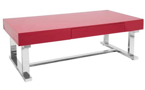 Lumisource Luster Red Coffee Table LUMI-CT-LSTR-R