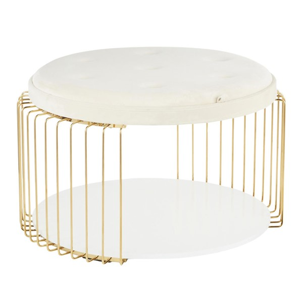 Lumisource Canary Gold White Coffee Table LUMI-CT-CANARY-AUVW