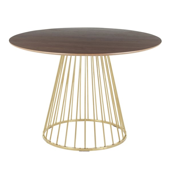 Lumisource Canary Gold Walnut Dining Table LUMI-DT-CANARY2-AUWL