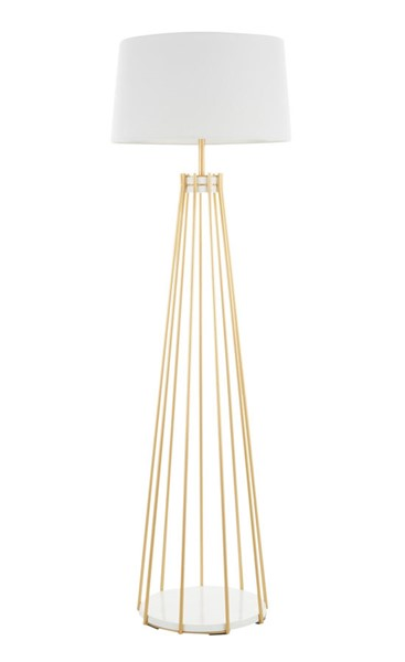 Lumisource Canary Gold White Floor Lamp LUMI-LS-CANARY-FL-AUW
