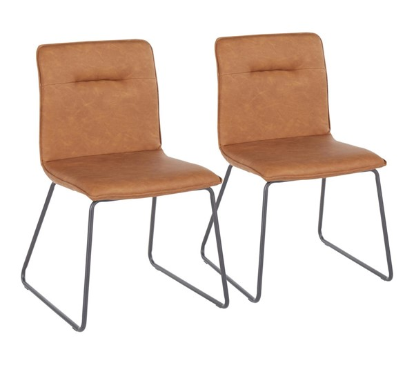 2 Lumisource Casper Black Camel Chairs LUMI-CH-CASPER-BKCAM2