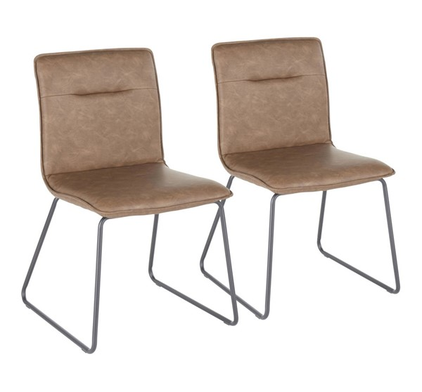 2 Lumisource Casper Black Espresso Chairs LUMI-CH-CASPER-BKE2