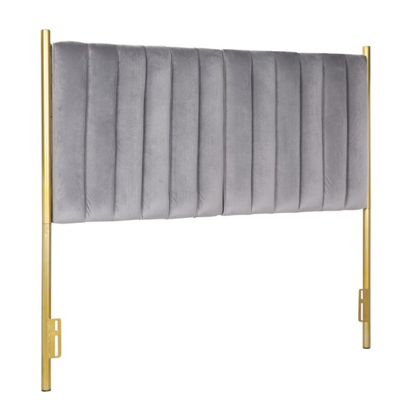 Lumisource Chloe Gold Grey Headboard LUMI-HB-CHLOE-AUVGY