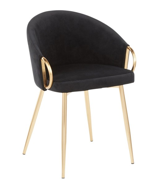 Lumisource Claire Gold Black Chair LUMI-CH-CLAIRE-AUVBK