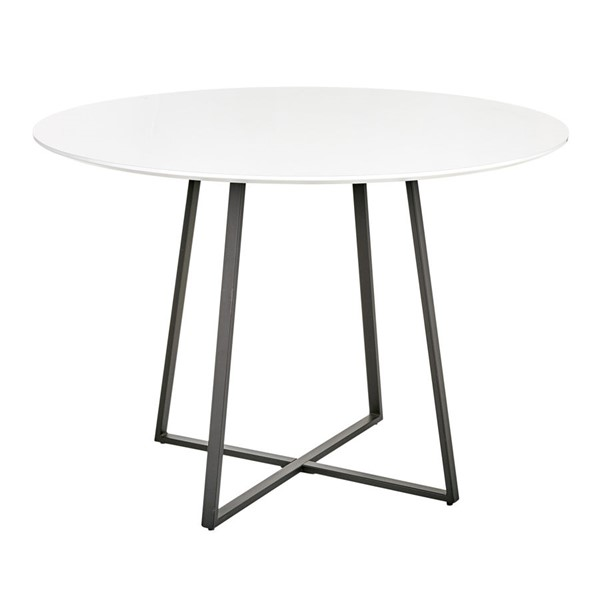 Lumisource Cosmo Black White Dining Table LUMI-DT-43COSMO2-BKW