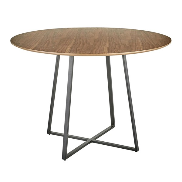 Lumisource Cosmo Black Walnut Dining Table LUMI-DT-43COSMO2-BKWL