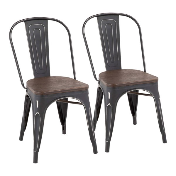 Lumisource Oregon Black Espresso Chairs LUMI-DC-OR-VBK-VAR