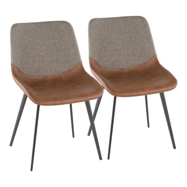 Lumisource Outlaw Espresso Brown Two Tone Chairs LUMI-DC-OTLW-BK-VAR