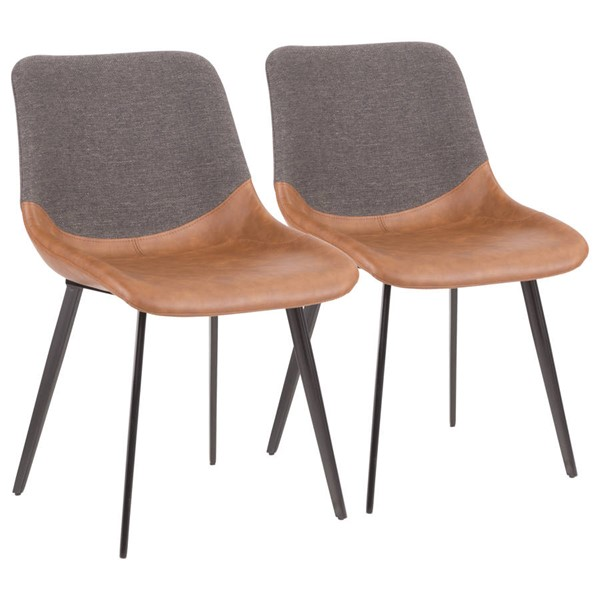 2 Lumisource Outlaw Brown Grey Two Tone Chairs LUMI-DC-OTLW-BKBNGY2