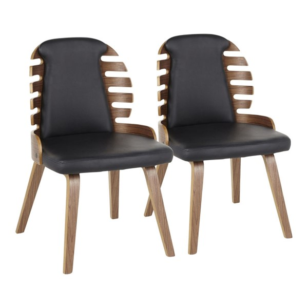 LumiSource Palm Dining Chairs LUMI-DC-PALM-WLBK2-CH-VAR