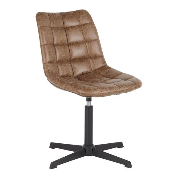 LumiSource Quad Light Brown Chair LUMI-DC-QUAD-BKLBN
