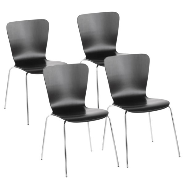Lumisource Bentwood Black Dining Chairs LUMI-DC-TW-STAK-VAR