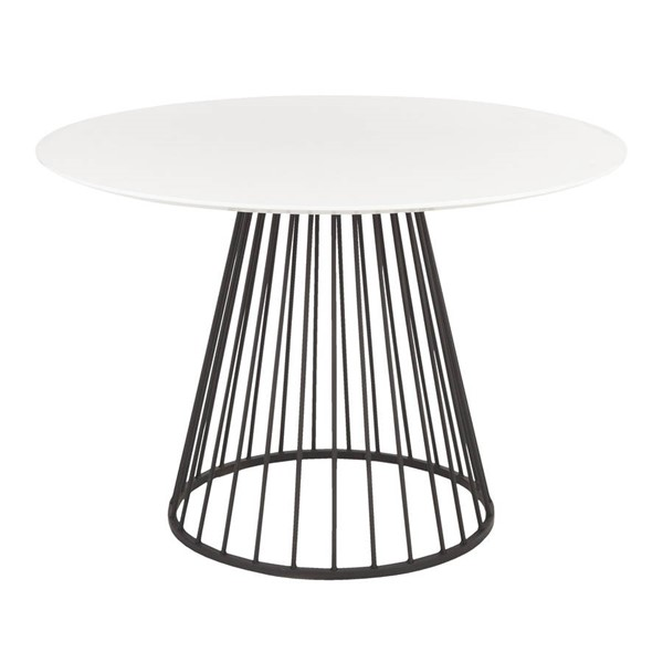 Lumisource Canary Black White MDF Dining Table LUMI-DT-CANARY2-BKW