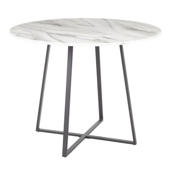 Lumisource Cosmo Black White Marble Dining Table LUMI-DT-COSMO2-BKWMB