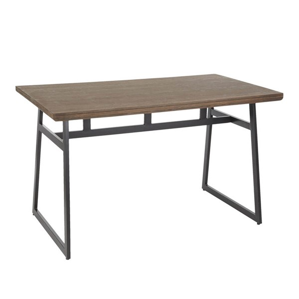 Lumisource Geo Black Brown Bamboo Dining Table LUMI-DT-GEO-BKBN