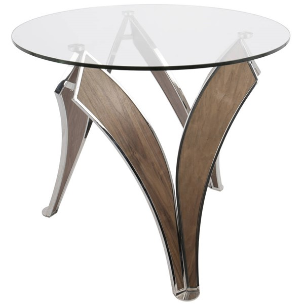 Lumisource Prestige Walnut Dining Table LUMI-DT-PRSTG-WL-GL