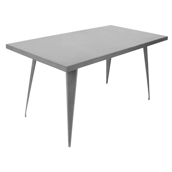 Lumisource Austin Matte Grey Rectangle Dining Table LUMI-DT-TW-AU6032-GY